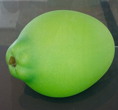Bright green lime. Scale is not indicated.